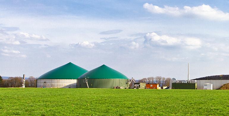 Bioemtano, industria del gas