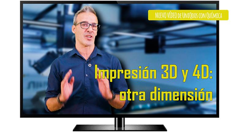 Nuevo vídeo sobre la química que hay detrás de la impresión 3D y 4D