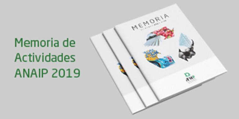 ANAIP lanza su memoria de actividades de 2019
