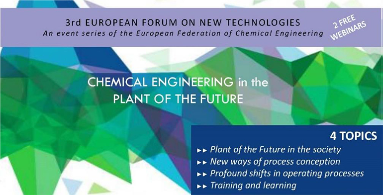 """3er Foro Europeo sobre Nuevas Tecnologías: """"Ingeniería química en la planta del Futuro"""""""