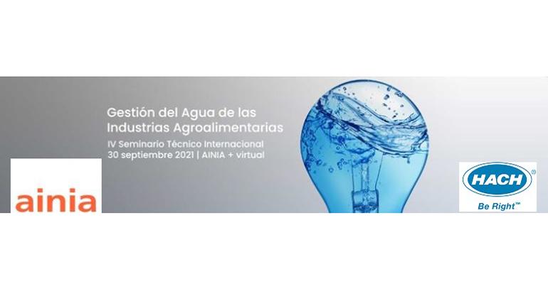 """Hach, sponsor del seminario """"Gestión del Agua de las Industrias Agroalimentarias"""" de Ainia"""