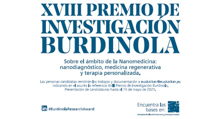 Burdinola lanza el XVIII Premio de Investigación Burdinola