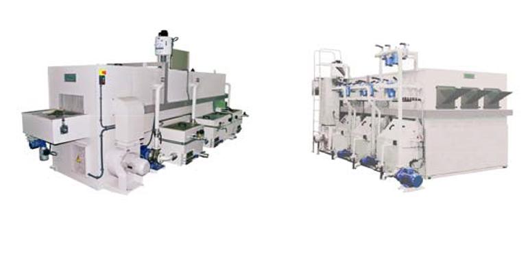 Máquinas y sistemas para el lavado y el desengrase industrial