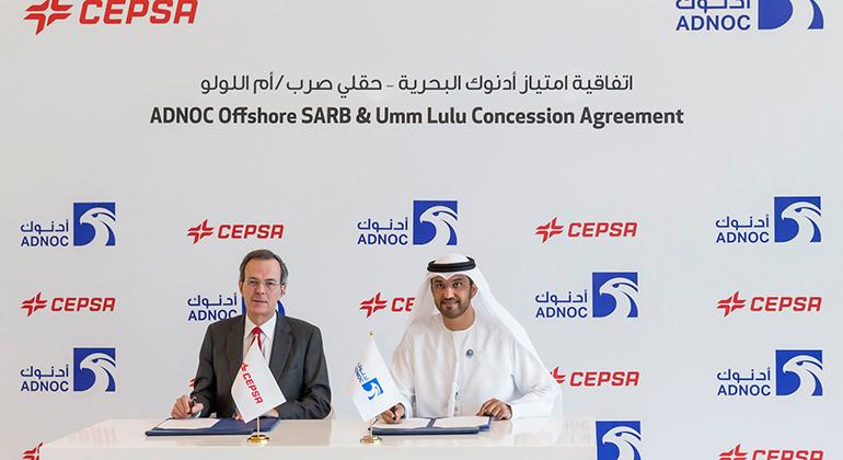 La compañía nacional de petróleo de Abu Dabi firma con Cepsa un nuevo contrato de concesión offshore