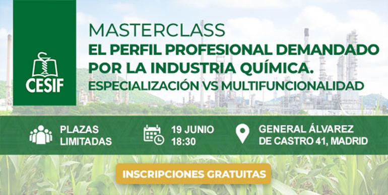 Masterclass de CESIF sobre los profesionales en la industria química