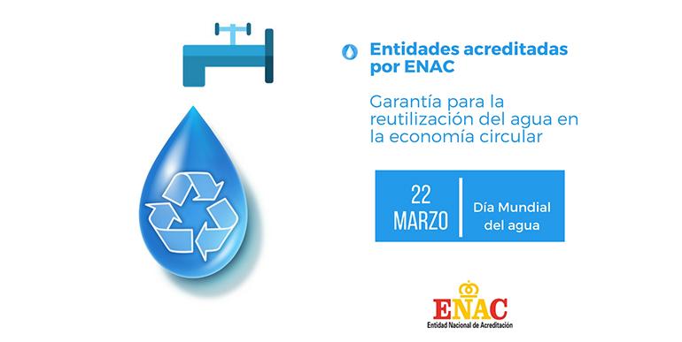 Las entidades acreditadas por ENAC, garantía para la reutilización del agua en la economía circular