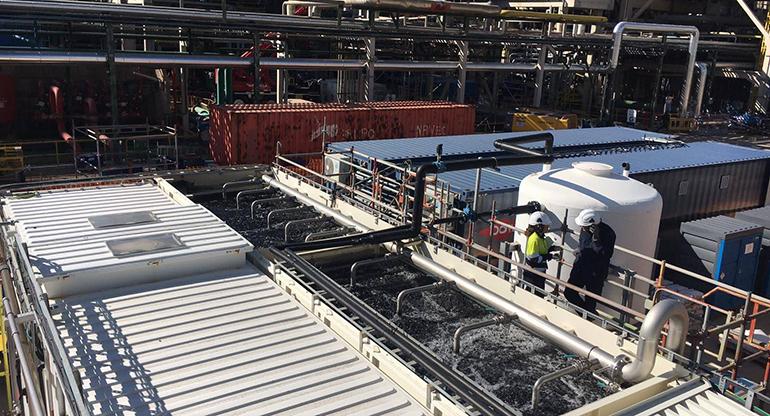 Proyecto piloto para la regeneración del agua residual de la industria petroquímica