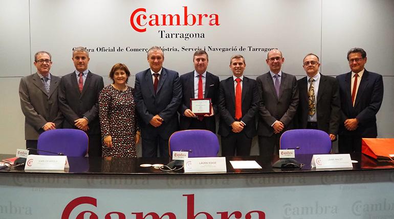 La Cambra de Comerç de Tarragona premia la internacionalización de Ercros