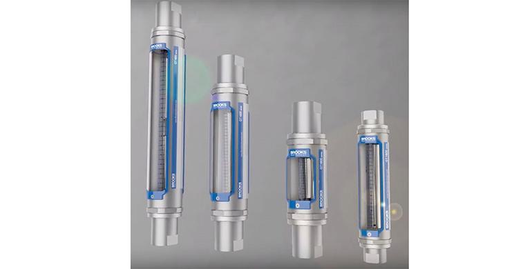 Medidores de flujo de área variable con tubos de vidrio