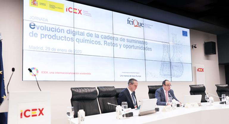 Feique y el ICEX analizan la digitalización en la cadena de suministro de productos químicos