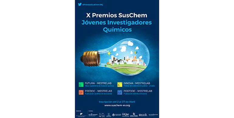SusChem-España convoca la X Edición de sus Premios Jóvenes Investigadores Químicos