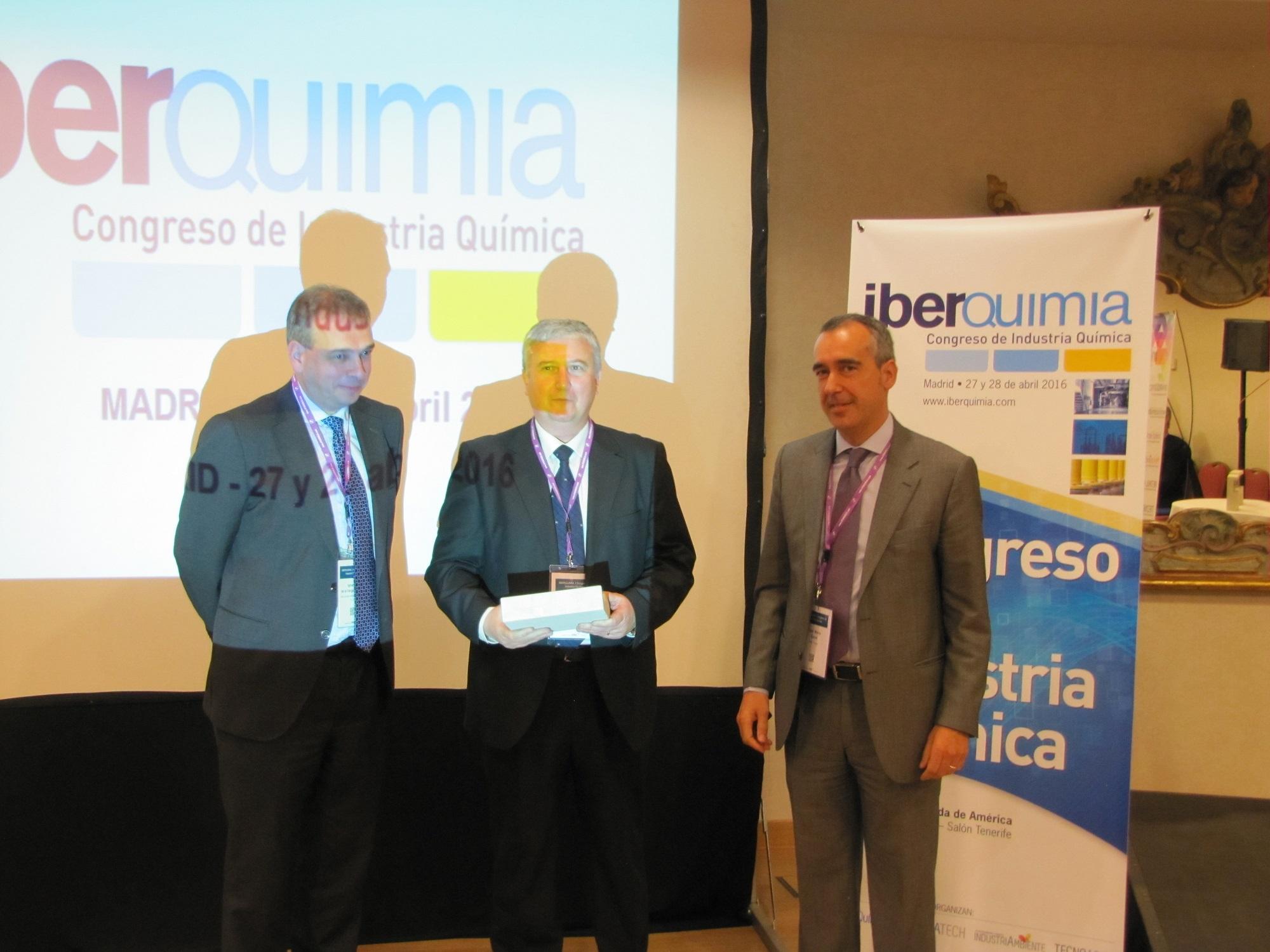 En eficiencia energética el premio es para Air liquide #iberquimia #PremiosInnovacion