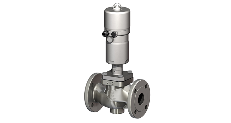 Válvula de control para regular medios líquidos y gaseosos