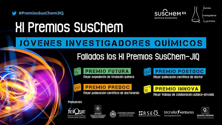 Fallados los Premios SusChem-Jóvenes Investigadores Químicos 2019