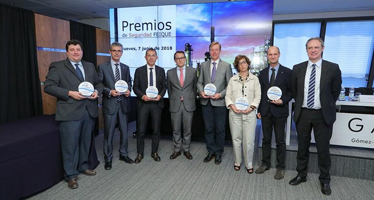 Los Premios de Seguridad 2017 de Feique reivindican el alto nivel de la industria química española