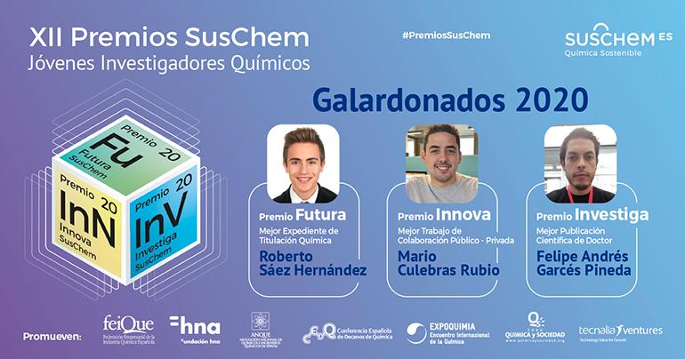 Fallada la XII Edición de sus Premios SusChem-Jóvenes Investigadores Químicos