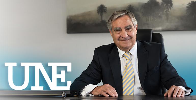 Carlos Esteban, presidente de UNE