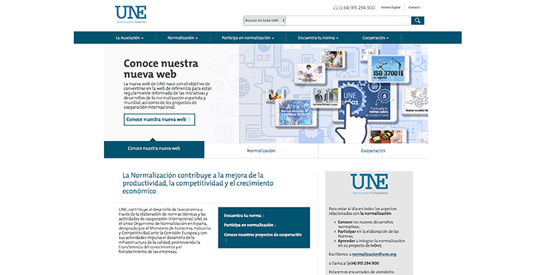 UNE se refuerza como centro de conocimiento de referencia en normalización con una nueva web