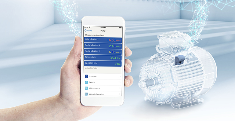 Motores eléctricos gestionados en red para el mantenimiento predictivo