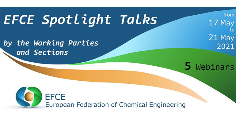 La European Federation of Chemical Engineering (EFCE) organiza webinars en mayo