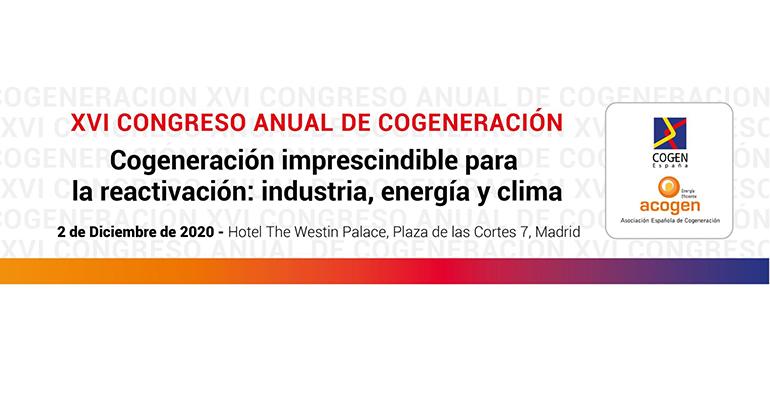 El 2 de diciembre se celebra el XVI Congreso Anual de Cogeneración