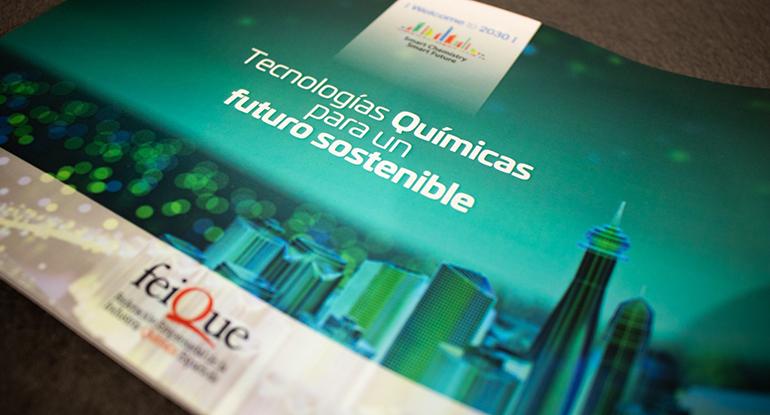 """presentación del documento """"Welcome to 2030: Tecnologías químicas para un futuro sostenible"""", realizada en el transcurso de la feria Expoquimia"""
