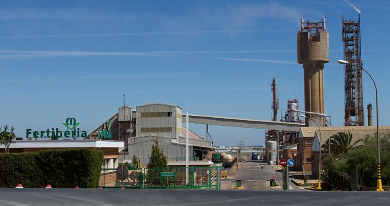 Fertiberia invierte siete millones en calderas de proceso de alta presión para su planta de amoniaco de Palos de la Frontera