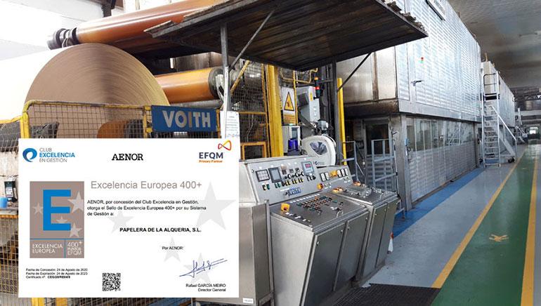 Hinojosa Paper Alquería, primera papelera en España con el certificado AENOR Residuo Cero