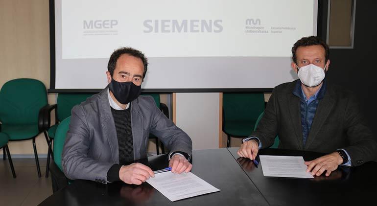 Acuerdo entre Siemens y la Politécnica Superior de Mondragon para cooperar en automatización y digitalización industrial