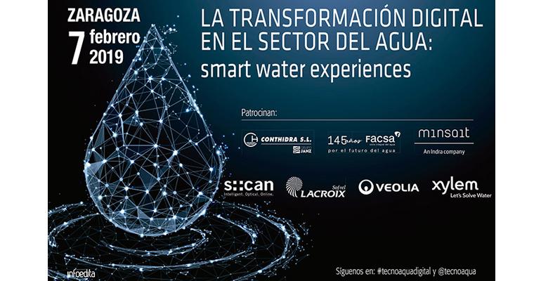 Abierta la inscripción a la jornada Tecnoaqua: La transformación digital en el sector del agua, Smart Water Experiences