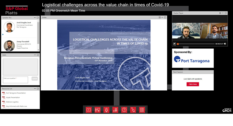 Port de Tarragona y Vopak Terquimsa participaron en el Platts European Petrochemicals Virtual Conference 2020
